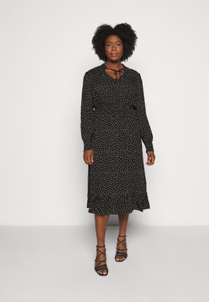 CARLOLA CALF DRESS - Vapaa-ajan mekko - black/white