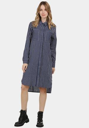 Robe chemise - marine gestreift