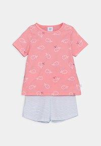 Sanetta - SHORT ALLOVER SET UNISEX - Pyžamová sada - pink/light blue - 0