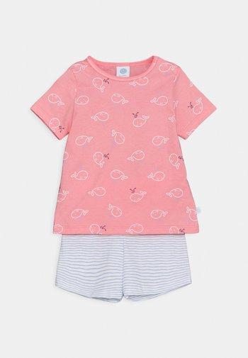 SHORT ALLOVER SET UNISEX - Pyžamová sada - pink/light blue