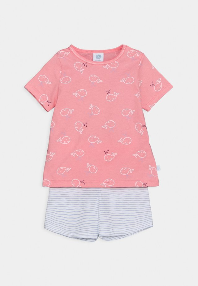 SHORT ALLOVER SET UNISEX - Pigiama - pink/light blue