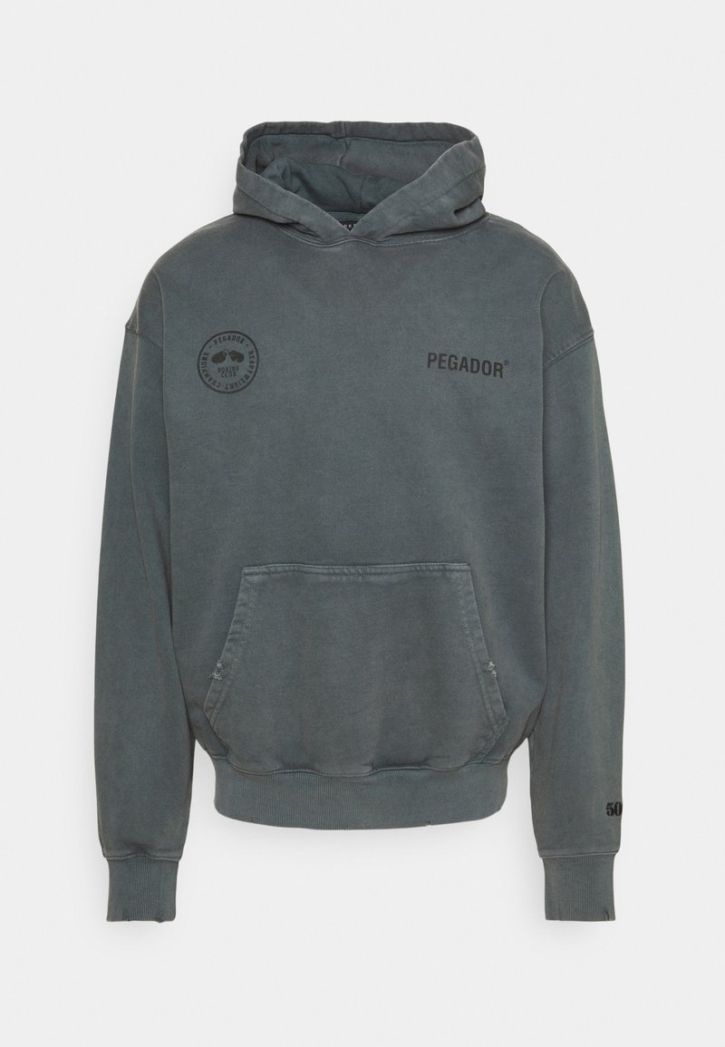 Pegador - MIKE HOODIE UNISEX USED LOOK - Sweat à capuche - vintage grey