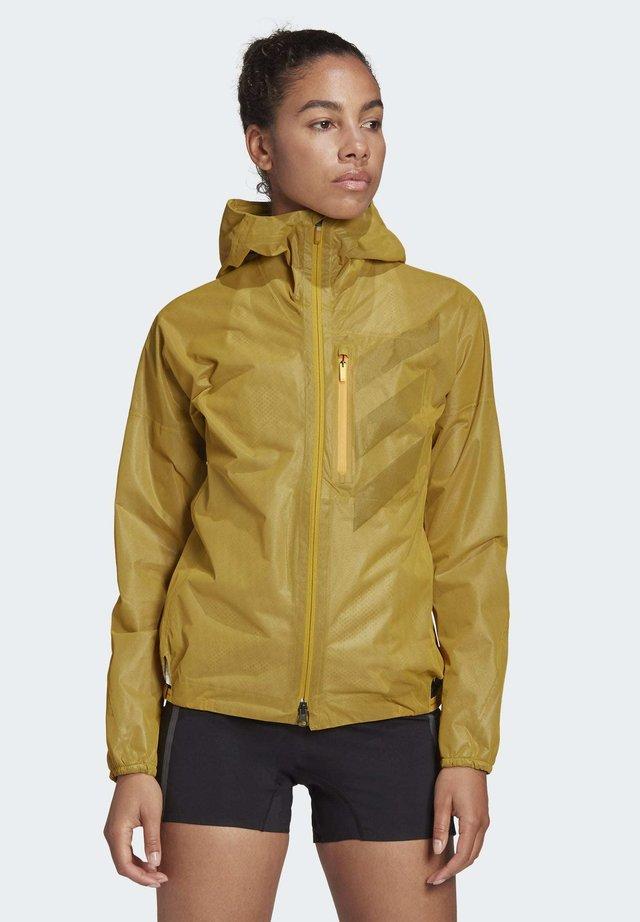 TERREX AGRAVIC RAIN JACKET - Impermeable - gold
