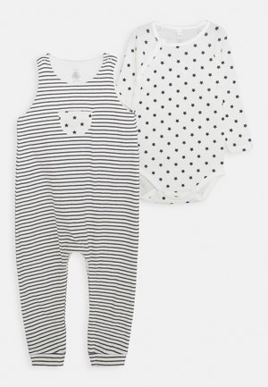 BABY ENSEMBLE SET UNISEX - Jumpsuit - marshmallow/smoking