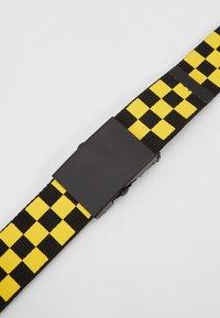 Urban Classics - ADJUSTABLE CHECKER BELT - Pásek - black/yellow - 2