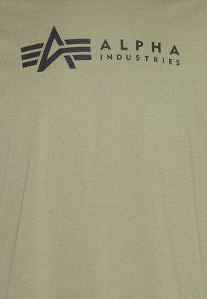 ALPHA LABEL 2 PACK - Camiseta estampada - olive/burgundy