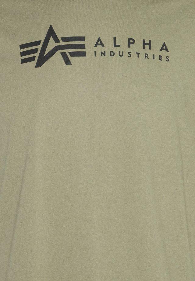 ALPHA LABEL 2 PACK - T-shirts med print - olive/burgundy