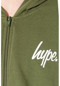 Hype - MINI SCRIPT - Zip-up hoodie - khaki - 3