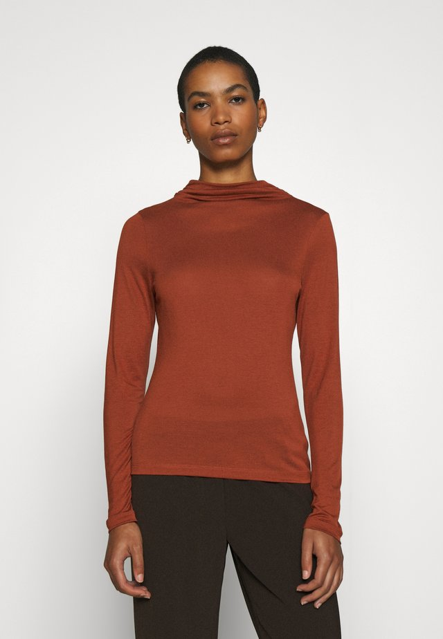 ANGIE - Long sleeved top - rust
