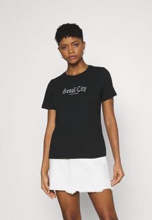 IDA TEE - Print T-shirt - black