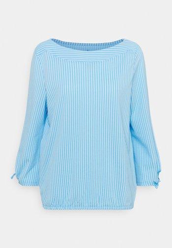 VERTICAL STRIPE - Long sleeved top - blue/white