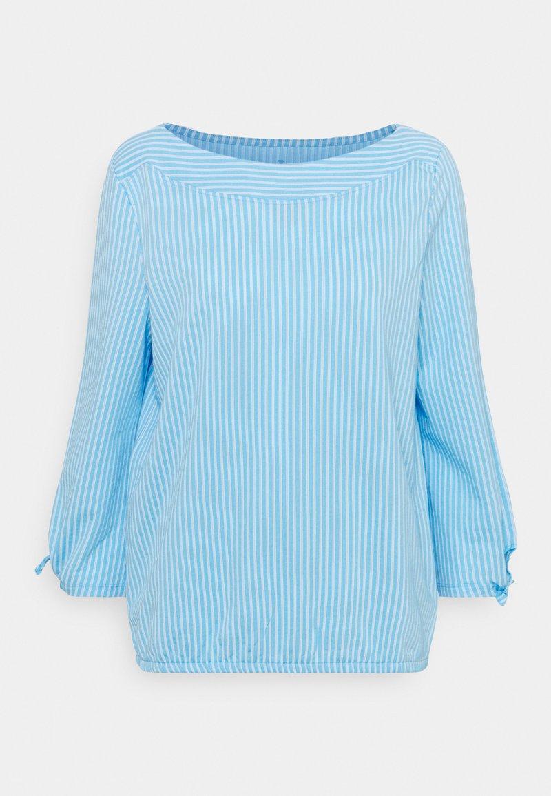 TOM TAILOR - VERTICAL STRIPE - Blouse - blue/white