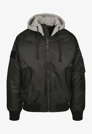 HOODED  - Light jacket - blk/gry