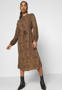 Vila - VIKOLINA TIE STRING DRESS - Day dress - tobacco brown - 3