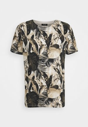 JJCHRIS TEE CREW NECK - T-shirt imprimé - egret