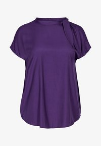 Zizzi - MIT BINDEDETAIL - T-shirt print - purple - 1