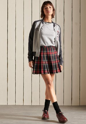 A-line skirt - navy check