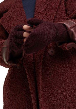 Fingerless gloves - aubergine