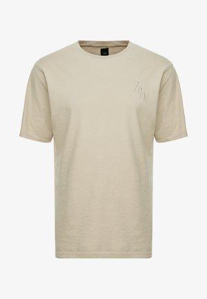 Print T-shirt - stone/ecru