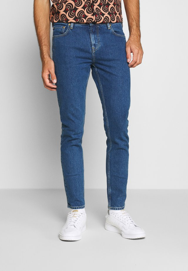 SKIM CROPPED - Jeans slim fit - blue denim