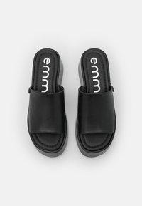 Emmshu - VIBE - Heeled mules - black - 5