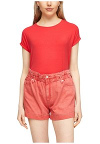 Q/S designed by - Basic T-shirt - red - 4