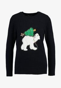 Dorothy Perkins - POLAR BEAR XMAS TREE - Jumper - navy - 4