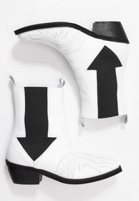 L37 - RIGHT NOW - Cowboy/biker ankle boot - white - 3