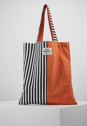 SACKY ATOMA ACCESSORIES - Shopping bag - black/white/tan/pink