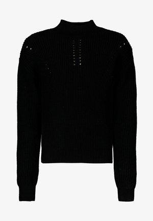 Strikpullover /Striktrøjer - off black