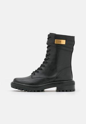 HARDWARE COMBAT BOOT - Šněrovací kotníkové boty - perfect black