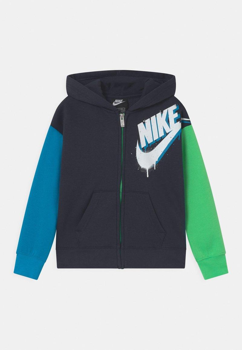Nike Sportswear - HOODIE - Mikina na zip - blue