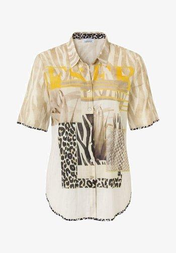 Button-down blouse - offwhite druck
