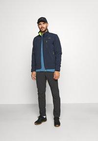 CMP - MAN ZIP HOOD JACKET - Soft shell jacket - blue/acido - 1
