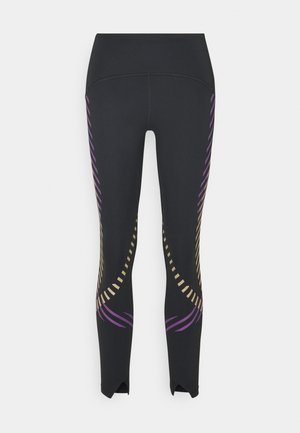 SPEED RUNWAY - Leggings - black/reflective silv