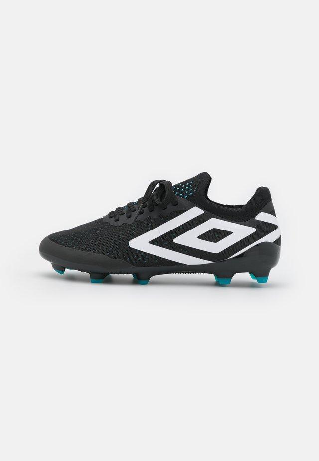 VELOCITA VI PRO FG - Moulded stud football boots - black/white/cyan blue