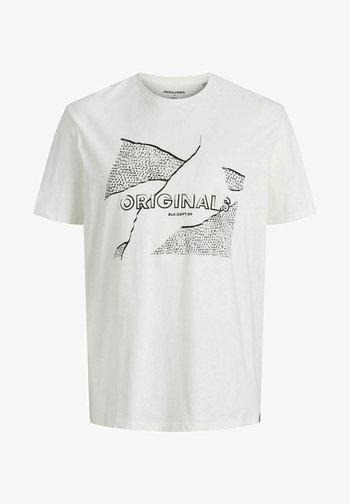 JORRON TEE CREW NECK - T-shirt med print - cloud dancer