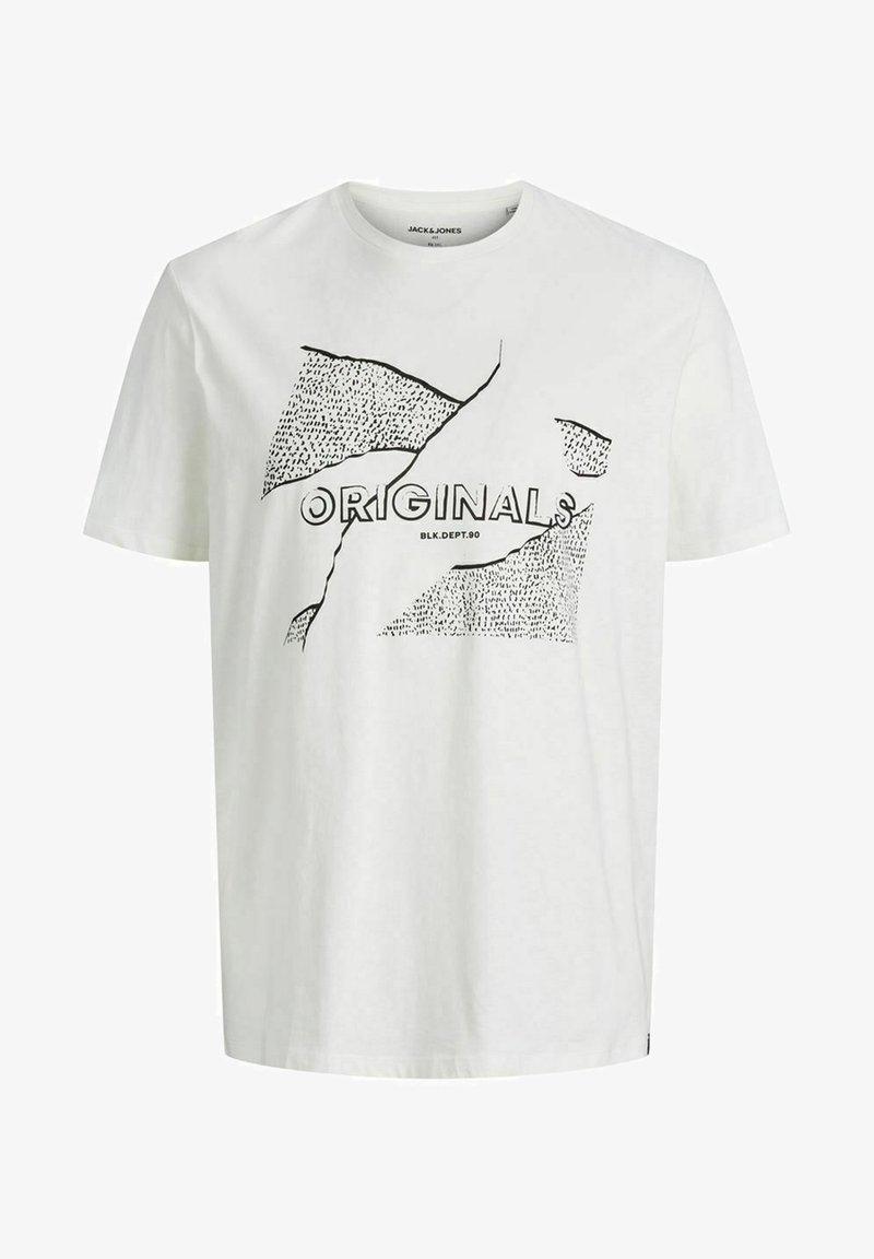 Jack & Jones - JORRON TEE CREW NECK - T-shirt med print - cloud dancer