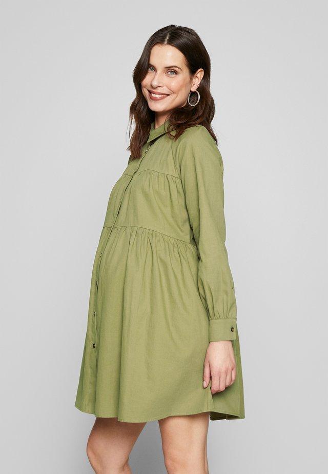 MINI TIERED DRESS - Jersey dress - khaki
