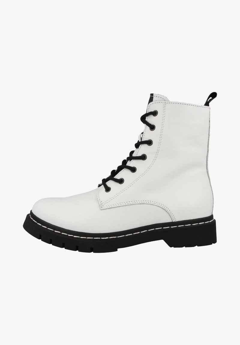 Tamaris - Lace-up ankle boots - white