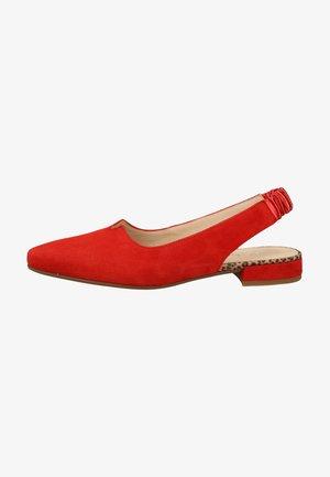 Ankle strap ballet pumps - flame