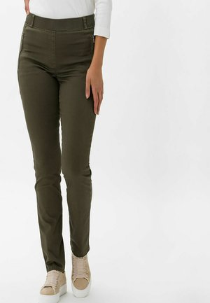 STYLE LAVINA ZIP - Trousers - olive