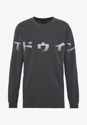 IMPRINT - T-shirt à manches longues - ebony
