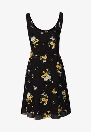 Vestido informal - black/yellow