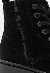 Topshop Wide Fit - WIDE FIT BUMBLE LACE UP BOOT - Lace-up ankle boots - black - 2