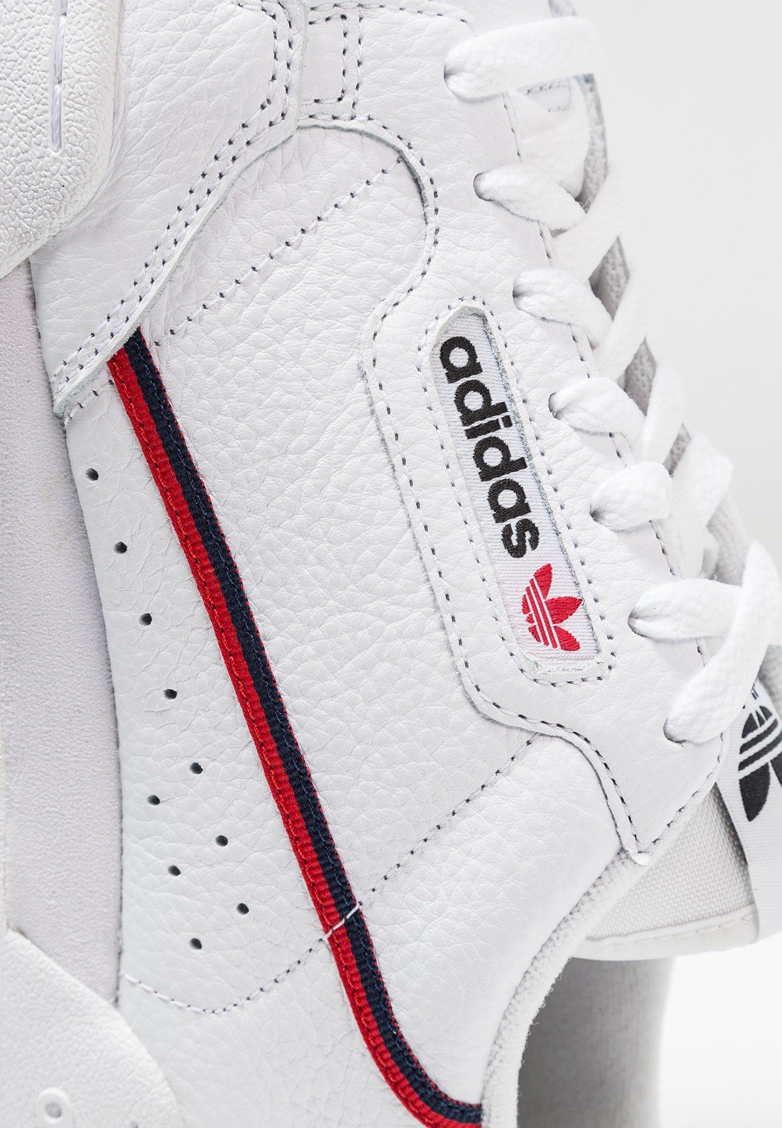 adidas Originals CONTINENTAL 80 SKATEBOARD SHOES - Baskets basses - footwear white/scarlet/collegiate navy tX5q6voC