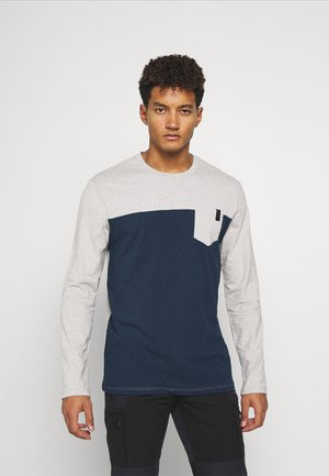 CAMPUS TEE - Long sleeved top - eclipse heather/nickel heather