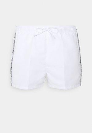 DRAWSTRING - Swimming shorts - white