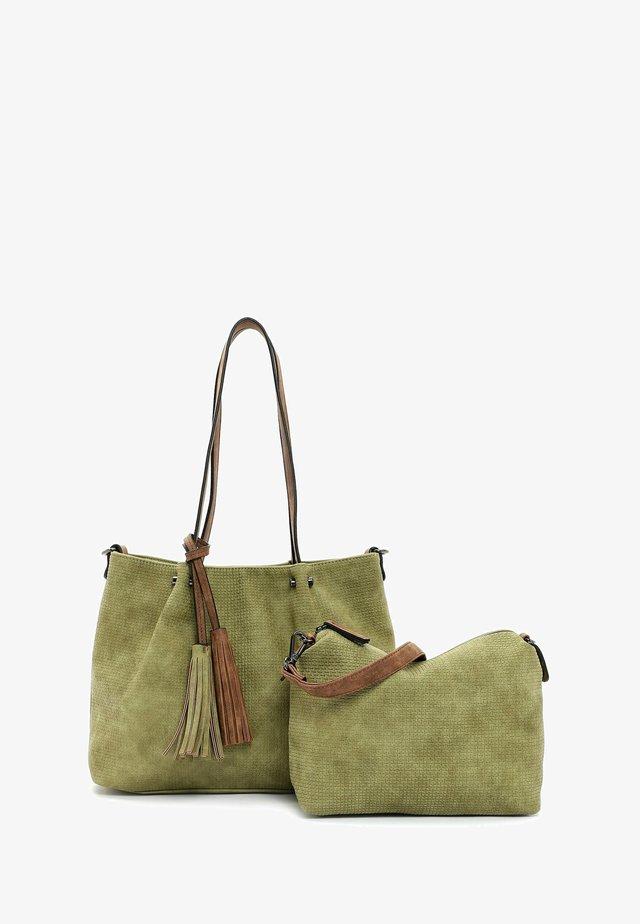 SURPRISE - Shopping bag - khaki cognac 967
