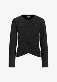 WE Fashion - MET GLITTERGAREN EN KNOOPDETAIL - Long sleeved top - black - 0